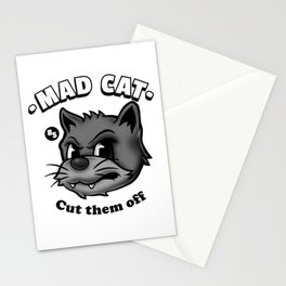 Mad cat Stationery Cards
