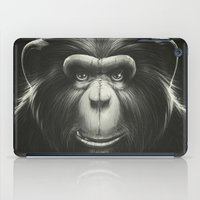 tooth iPad Cases featuring Monkee with Tooth by Dr. Lukas Brezak