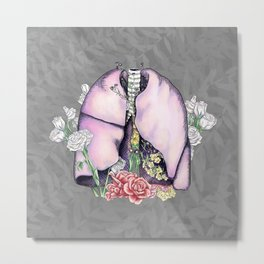 Just Breathe (digital) Metal Print