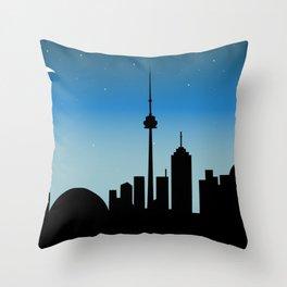 Toronto Skyline - Night Throw Pillow