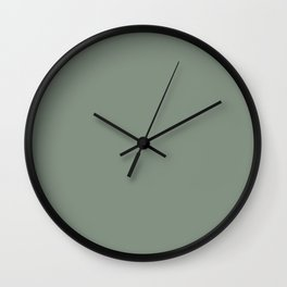 Green Pantone #839182 Wall Clock
