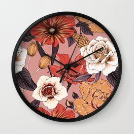 Modern Botanical No. 4 Wall Clock