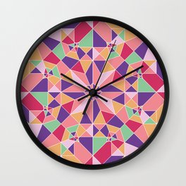 Kaleidoscopic elephant Wall Clock