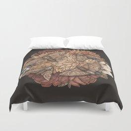 Flowers and Moths Duvet Cover