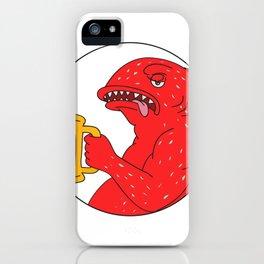 Coral Trout Beer Mug Circle Drawing iPhone Case