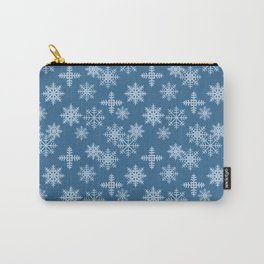Snow Crystal Blue Carry-All Pouch