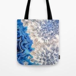 Blue sea ice agate 2990 Tote Bag