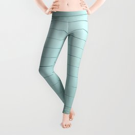 turquoise distressed painted stone wall ambient decor rustic  Leggings