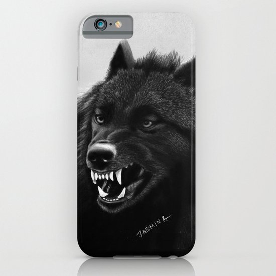 Roaring Black Wolf iPhone & iPod Case