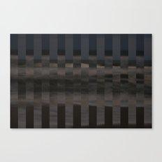 Ocean Collage, Stripes Canvas Print