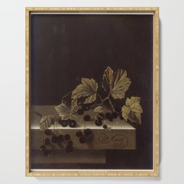 Adriaen Coorte - Black Currants Serving Tray