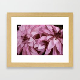 Just The Two Of Us - Painterly Dahlias Framed Art Print