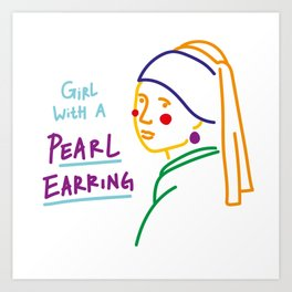 Contemporary Girl With A Pearl Earring Art Print