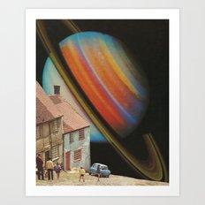 Cosmic Village Art Print