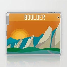 Boulder, Colorado - Skyline Illustration by Loose Petals Laptop & iPad Skin