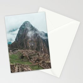 Ancient Inca ruins of Machu Picchu and surrounding Andes mountains in the early morning, Peru Stationery Cards