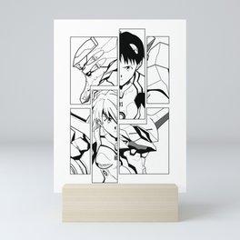 Evangelion kids white Mini Art Print