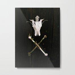Dragon skull X Metal Print