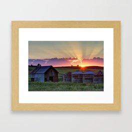Home Town Sunset Framed Art Print
