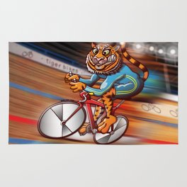 Olympic Cycling Tiger Rug