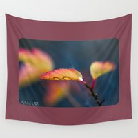 leaf Wall Tapestries featuring Leaf by Dora Birgis