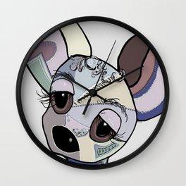 Chihuahua Denim Colors Wall Clock
