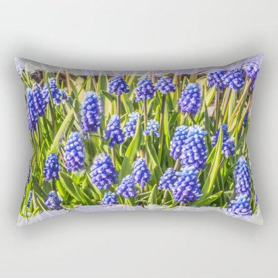 Grape hyacinths muscari Rectangular Pillow