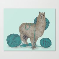 lama Canvas Prints featuring Lama by Anoukisch