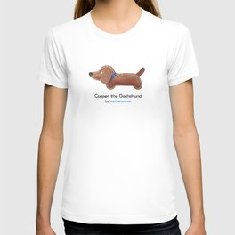 Copper the Dachshund by leatherprince T-shirt