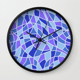 Curved Mosaic 05 Wall Clock