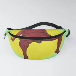 Sitting Red Fanny Pack