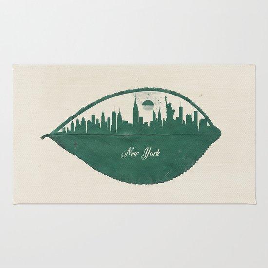 New York Skyline at Sunrise Rug
