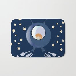 Hedgehog in space. Bath Mat