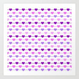 Hearts - Pink and Purple Art Print