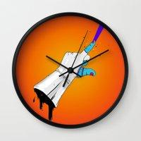 master chief Wall Clocks featuring Space Chief by Dzohn