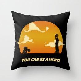 My Hero Sunset Throw Pillow