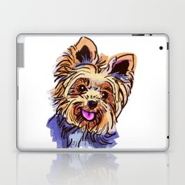 The cute smiley Yorkie love of my life! Laptop & iPad Skin