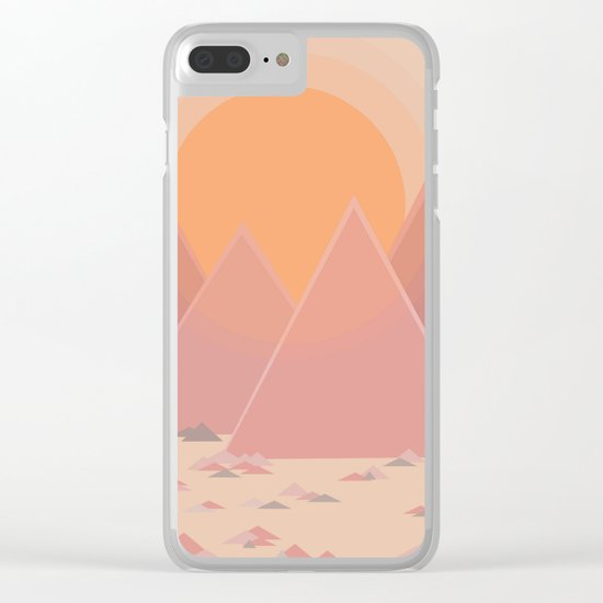 The quiet mountains Clear iPhone Case