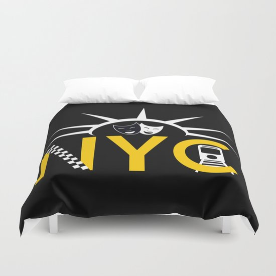 NYC Icon Collage Duvet Cover