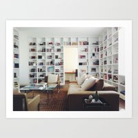 library Art Prints featuring Library by Kevin Russ