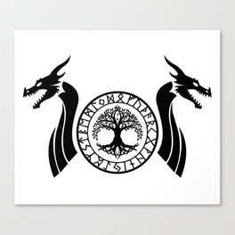 Norse Dragon - Yggdrasil Canvas Print