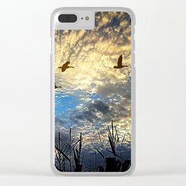Peaceful morning Clear iPhone Case