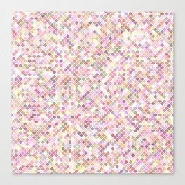 Happy Pastel Square Pattern Canvas Print