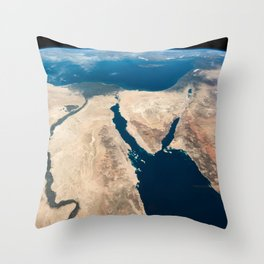 The Nile and the Sinai, to Israel and beyond. One sweeping glance of human history Throw Pillow
