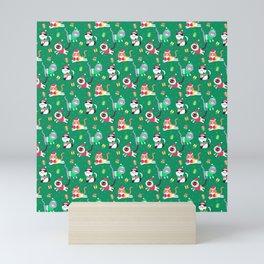 Meowy Christmas Santa Claws Mini Art Print