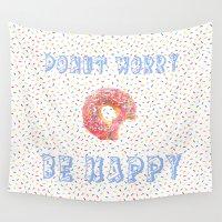sprinkles Wall Tapestries featuring Life Needs Sprinkles by Tasteful Tatters