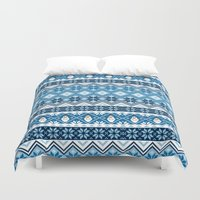 olaf Duvet Covers featuring Olaf Nordic Print by GwenILLustrates