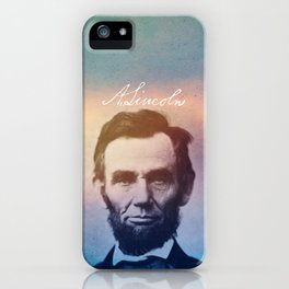 Stand Firm. Lincoln. 1809-1865. iPhone Case