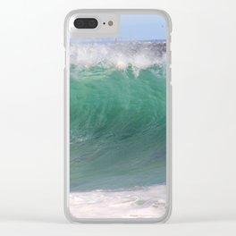 Green Wedge Peak Clear iPhone Case