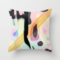 lucy Throw Pillows featuring Lucy by Haute Graffiti